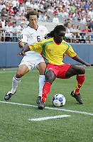 Steve Cherundolo (6) tries to steal the ball from Jason James (right). USA defeated Grenada 4-0 during the First Round of the 2009 CONCACAF Gold Cup at Qwest Field in Seattle, Washington on July 4, 2009.