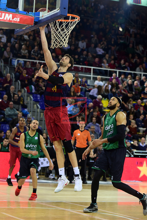 League ACB-ENDESA 2016/2017 - Game: 13.<br /> FC Barcelona Lassa vs Divina seguros Joventut: 79-77.<br /> Ante Tomic vs Jerome Jordan.