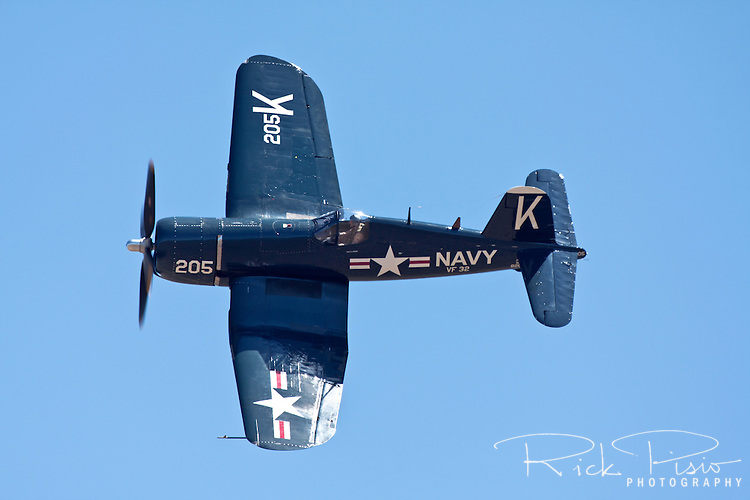 Chance-Vought F4U-4 Corsair in flight.
