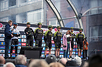 Team Mitchelton Scott, pre race, team presentation<br /> <br /> <br /> 82nd Gent – Wevelgem in Flanders Fields 2019 (1.UWT)<br /> Deinze – Wevelgem: 251,5km<br /> ©kramon