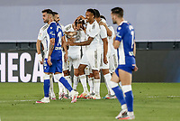 10th July 2020; Estadio Alfredo Di Stefano, Madrid, Spain; La Liga Football, Real Madrid versus Deportivo Alaves; Marco Asensio (Real Madrid)  celebrates his goal which made it 2-0 in the 50th minute