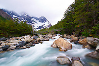 Rio Frances in the Torres del Paine, Patagonia, Chile