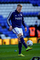 1st February 2020; St Andrews, Birmingham, Midlands, England; English Championship Football, Birmingham City versus Nottingham Forest; Kristian Pedersen of Birmingham City warms-up prior to the match