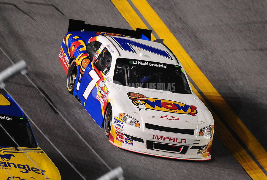 Jul. 2, 2010; Daytona Beach, FL, USA; NASCAR Nationwide Series driver Steve Arpin during the Subway Jalapeno 250 at Daytona International Speedway. Mandatory Credit: Mark J. Rebilas-
