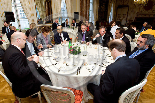 """BRUSSELS - BELGIUM - 29 March 2012 -- European Policy Centre (EPC) joint event in Palais d'Egmont - """"The Arab Spring one year after"""". -- Cocktail and dinner. -- PHOTO: Juha ROININEN /  EUP-IMAGES"""