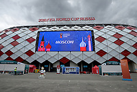 MOSCU - RUSIA, 03-07-2018: El estadio Spartak en Moscú es visto previo al partido de octavos de final entre Colombia y Inglaterra por la Copa Mundial de la FIFA Rusia 2018 jugado en el estadio del Spartak en Moscú, Rusia. / Spartak stadium in Moscu is seen prior the match between Colombia and England of the round of 16 for the FIFA World Cup Russia 2018 played at Spartak stadium in Moscow, Russia. Photo: VizzorImage / Julian Medina / Cont
