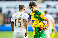 Robbie Brady of Norwich City  in action during  the Barclays Premier League match between Swansea City and Norwich City played at the Liberty Stadium, Swansea  on March the 5th 2016