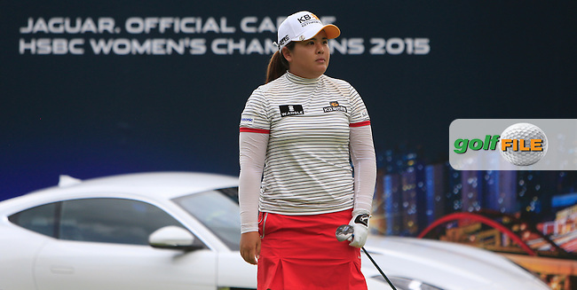 Inbee Park (KOR) on the 17th tee during Round 3 of the HSBC Women's Champions at the Sentosa Golf Club, The Serapong Course in Singapore on Saturday 7th March 2015.<br /> Picture:  Thos Caffrey / www.golffile.ie