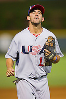 Shortstop Deven Marrero #17 (Arizona State) of the USA Baseball Collegiate National Team jogs off the field at the end of an inning during the game against the Gastonia Grizzlies at Sims Legion Park on June 30, 2011 in Gastonia, North Carolina.  Team USA defeated the Grizzlies 12-5.  Brian Westerholt / Four Seam Images