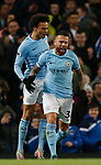 Nicolas Otamendi of Manchester City celebrates equalising during the premier league match at the Etihad Stadium, Manchester. Picture date 3rd December 2017. Picture credit should read: Andrew Yates/Sportimage