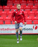 Lincoln City's Anthony Scully during the pre-match warm-up<br /> <br /> Photographer Andrew Vaughan/CameraSport<br /> <br /> The EFL Sky Bet League One - Accrington Stanley v Lincoln City - Saturday 15th February 2020 - Crown Ground - Accrington<br /> <br /> World Copyright © 2020 CameraSport. All rights reserved. 43 Linden Ave. Countesthorpe. Leicester. England. LE8 5PG - Tel: +44 (0) 116 277 4147 - admin@camerasport.com - www.camerasport.com