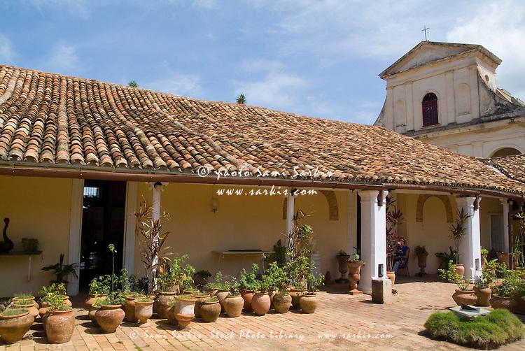Courtyard inside the Museum of Colonial Architecture (Museo de Arquitectura Colonial), Trinidad, Sancti Spiritus, Cuba.