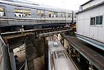 Trains pass through  Shimokitazawa station in Setagaya Ward, Tokyo, Japan..Photographer: Robert Gilhooly