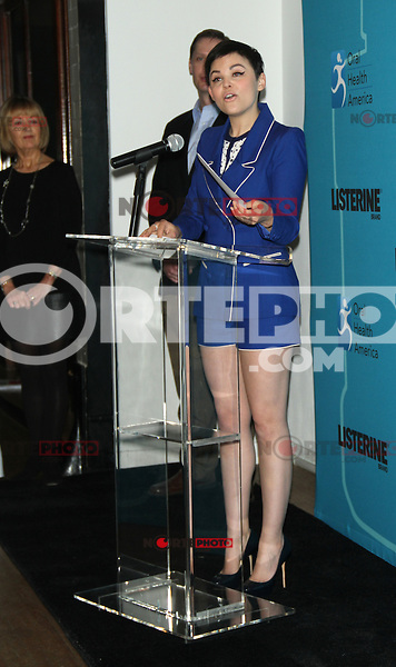 Feb. 05, 2013 Ginnifer Goodwin kicks off  the Listerine 21 Day Challenge with the $21,ooo  Swish at the Gabarron Foundation Carriage House Center for the Arts. Credit:© RW/MediaPunch Inc.
