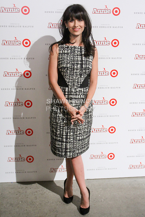 Hilaria Baldwin arrives at the Annie For Target collection celebration and pop-up shop at Stage 37 in New York City on November 4, 2014.