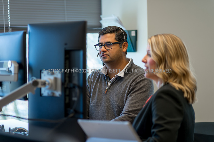 10/26/2016-- Redmond, WA, USA<br /> <br /> Microsoft staff at work in the trading room on Microsoft&rsquo;s campus in Redmond, Washington.<br /> <br /> Photograph by Stuart Isett. &copy;2016 Stuart Isett. All rights reserved.