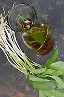 Bärlauch-Essig, Bärlauchessig, Bärlauch in Essig eingelegt, Bärlauch, Bär-Lauch, Allium ursinum, Ramsons, Wood Garlic, Wood-Garlic, pickled, vinegar, L'ail des ours, ail sauvage