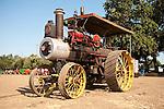 EDGE & TA Branch 158 threshing bee near Woodland, CA..1916 Russell 12-20 steam tractor driving the threshing machines