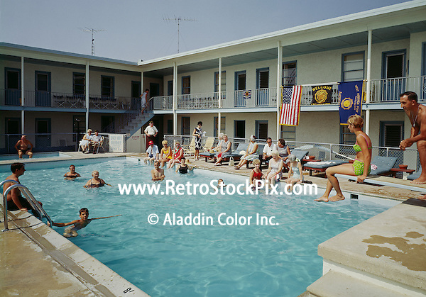 Mardon Court Motel, Wildwood, NJ. Swimming Pool. 1960's.