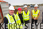 Pictured are the design team involved in the building of the new Blennerville National School are l-r: John Long (Site Foreman at Ned O'Shea and Sons Construction) Foreman Michael Williams (Architect) Diarmuid Dineen (Ned O'Shea & Sons) and Brendan Murphy (Sheaconn Construction Limited)