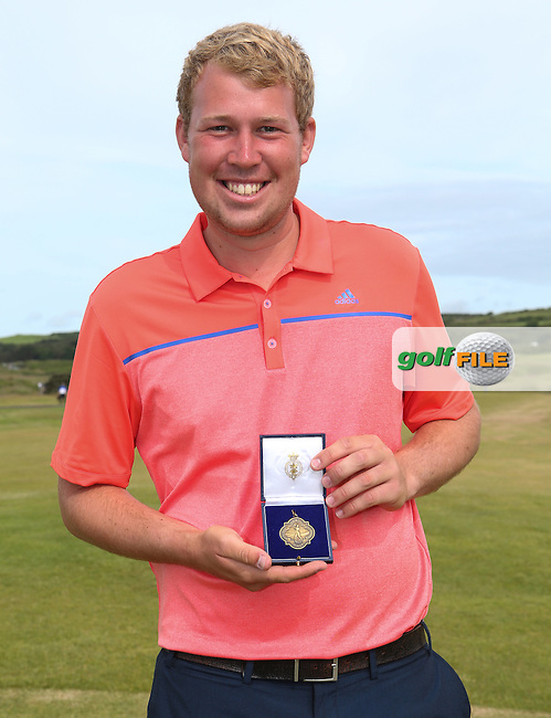 Sean Towndrow (Southport & Ainsdale) with his bronze medal at The Amateur Championship 2014 from Royal Portrush Golf Club, Portrush, Northern Ireland. Picture:  David Lloyd / www.golffile.ie