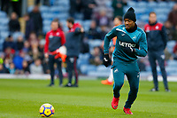 Jordan Ayew of Swansea City during the pre-match warm-up prior to Premier League match between Burnley and Swansea City at Turf Moor, Burnley, England, UK. Saturday 18 November 2017