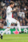 Sergio Ramos of Real Madrid in action during the Europe Champions League 2017-18 match between Real Madrid and Borussia Dortmund at Santiago Bernabeu Stadium on 06 December 2017 in Madrid Spain. Photo by Diego Gonzalez / Power Sport Images