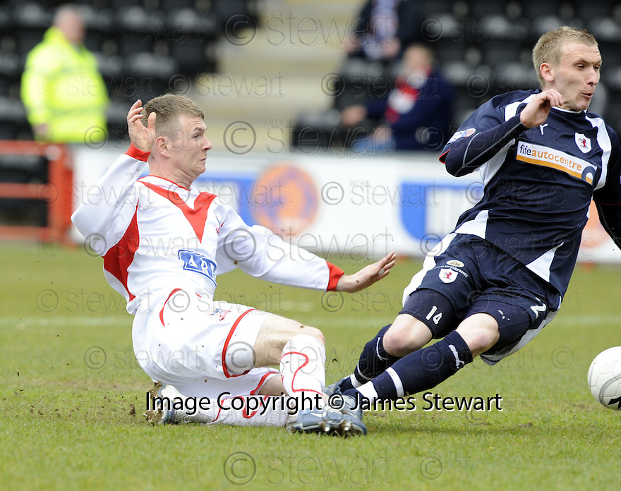 03/05/2008   Copyright Pic: James Stewart.File Name : sct_jspa01_airdrie_v_raith.BRYAN PRUNTY SCORES AIRDRIE'S FIRST.James Stewart Photo Agency 19 Carronlea Drive, Falkirk. FK2 8DN      Vat Reg No. 607 6932 25.Studio      : +44 (0)1324 611191 .Mobile      : +44 (0)7721 416997.E-mail  :  jim@jspa.co.uk.If you require further information then contact Jim Stewart on any of the numbers above........