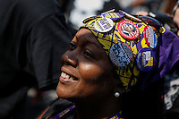A woman takes part during the March4justice in North Brunswick, New Jersey 04.13.2015. The Action it's a nine day march from NYC to the U.S. Capitol in Washington DC. Kena Betancur/VIEWpress.