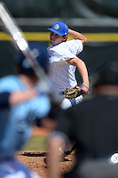 South Dakota State JackRabbits pitcher Andrew Clemen (28) delivers a pitch during a game against the Maine Black Bears at South County Regional Park on March 9, 2014 in Port Charlotte, Florida.  Maine defeated South Dakota 5-4.  (Mike Janes/Four Seam Images)