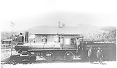 Fireman's-side view of D&amp;RG American #92 at Veta Pass.<br /> D&amp;RG  Veta Pass, CO  prior to 1894