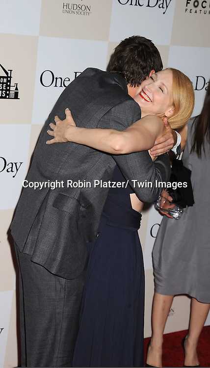 "Jim Sturgess and Patricia Clarkson attending the New York Premiere of ""One Day"" starring .Anne Hathaway, Jim Sturgess and Patricia Clarkson on .August 8, 2011 at The AMC Loews Lincoln Square 13 Theatre in New York City."