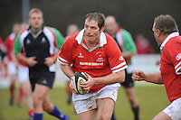 Gary Longwelll in action during the charity match between the Ulster 1999 XV and a Wooden Spoon Select XV at Shaw's Bridge Belfast.  Mandatory Credit - Photo : Oliver McVeigh