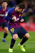 2nd February 2019, Camp Nou, Barcelona, Spain; La Liga football, Barcelona versus Valencia; Lionel Messi of FC Barcelona celebrates scoring his side's 2nd goal in the 64th minute