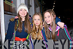 Sophie Thompson, Katie Ferriter and Jenna Ferriter enjoying the Dingle fireworks on New Year's Eve.