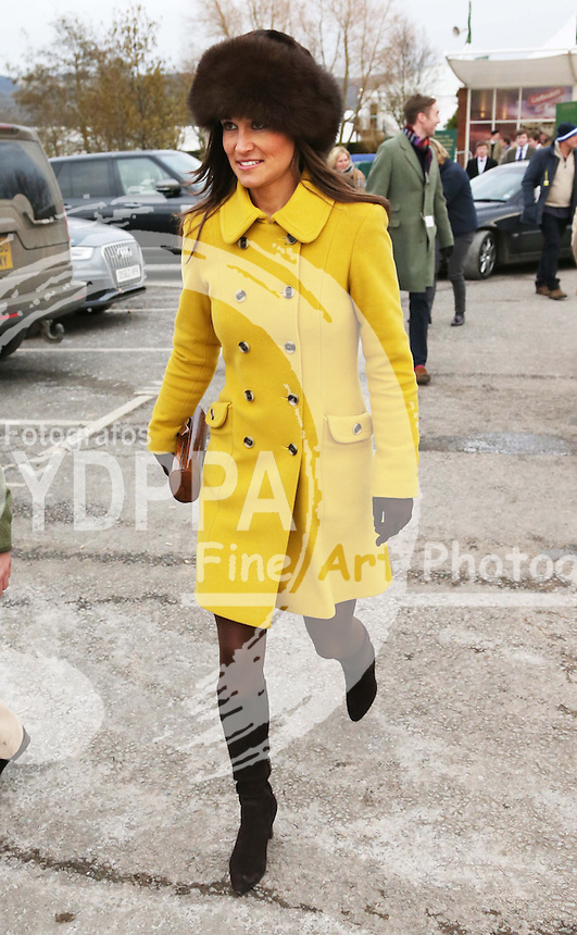 Pippa Middleton  leaving Cheltenham Festival, Thursday, 14th  March 2013.  Photo by: Stephen Lock / i-Images / DyD Fotografos