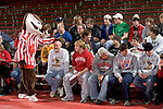 MADISON, WI - JANUARY 19: The Wisconsin Badgers wrestling team against the Penn State Nittany Lions at the Field House on January 19, 2007 in Madison, Wisconsin. The Badgers beat the Nittany Lions 17-16. (Photo by David Stluka)