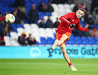 19th November 2019; Cardiff City Stadium, Cardiff, Glamorgan, Wales; European Championships 2020 Qualifiers, Wales versus Hungary; Gareth Bale of Wales warms up before the game - Editorial Use