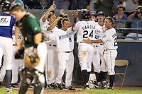 West Michigan Whitecaps walk off win during a game vs. the South Bend Silver Hawks at Fifth Third Field in Comstock Park, Michigan August 16, 2010.   West Michigan defeated South Bend 3-2.  Photo By Mike Janes/Four Seam Images