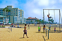 Santa Monica, CA, Outdoor Exercising, Rope Climbing, Sea Castle , Shutters, Casa del Mar