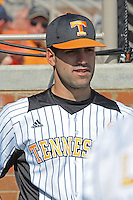 Bryan Morgado #24 of the Tennessee Volunteers at Lindsey Nelson Stadium in game against LSU Tigers in Knoxville, TN March 27, 2010 (Photo by Tony Farlow/Four Seam Images)