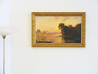 "Jasper Francis Cropsey : ""Fisherman in Autumn Landscape"" Image Dims.<br />