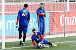 Spain's Sergio Rico, Kepa Arrizabalaga and David De Gea during training session. March 22,2017.(ALTERPHOTOS/Acero)