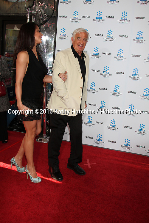 """.Jean-Paul Belmondo .arrives at the """"A Star is Born"""" Restored Print World Premiere , part of the Turner Classic Movie Channel Classic Movie Festival.Grauman'S Chinese.Los Angeles, CA.April 22, 2010.©2010 Kathy Hutchins / Hutchins Photo..."""