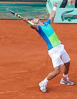 Rafael Nadal (ESP) (2) against Nicolas Almagro (ESP) (19) in the quarter finals of the men's singles. Rafael Nadal beat Nicolas Almagro 7-6 7-6 6-4..Tennis - French Open - Day 11 - Wed 02 June 2010 - Roland Garros - Paris - France..© FREY - AMN Images, 1st Floor, Barry House, 20-22 Worple Road, London. SW19 4DH - Tel: +44 (0) 208 947 0117 - contact@advantagemedianet.com - www.photoshelter.com/c/amnimages