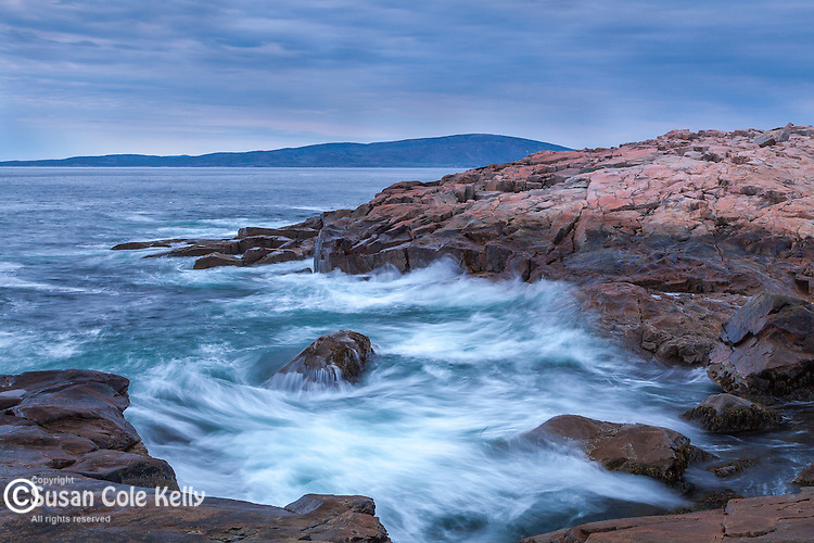 Storm waves at Schoodic Point in Acadia National Park, Maine, USA