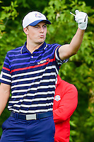 Jordan Spieth (USA) on the 10th tee during the practice round at the Ryder Cup, Hazeltine National Golf Club, Chaska, Minnesota, USA.  9/29/2016<br /> Picture: Golffile | Ken Murray<br /> <br /> <br /> All photo usage must carry mandatory copyright credit (&copy; Golffile | Ken Murray)