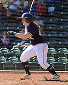 Michigan Wolverines Softball catcher Caitlin Blanchard (44) during a game against the Bethune-Cookman on February 9, 2014 at the USF Softball Stadium in Tampa, Florida.  Michigan defeated Bethune-Cookman 12-1.  (Copyright Mike Janes Photography)