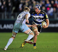 Leroy Houston of Bath Rugby in possession. Aviva Premiership match, between Bath Rugby and Northampton Saints on December 5, 2015 at the Recreation Ground in Bath, England. Photo by: Patrick Khachfe / Onside Images