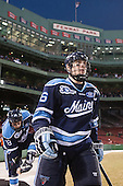 Jon Swavely (Maine - 18), Brice O'Connor (Maine - 16) - The University of Maine Black Bears defeated the Boston University Terriers 7-3 (2EN) on Saturday, January 11, 2014, at Fenway Park in Boston, Massachusetts.
